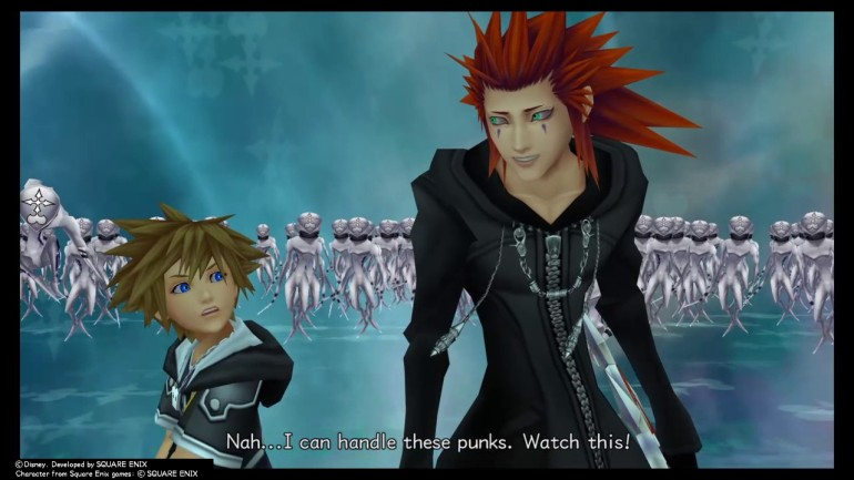 Axel talking with Sora in KH2