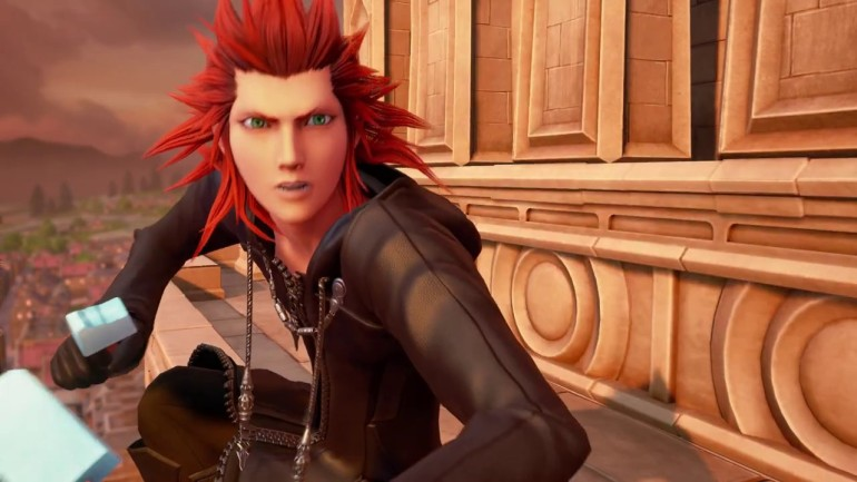 Lea in KH3 on clocktower