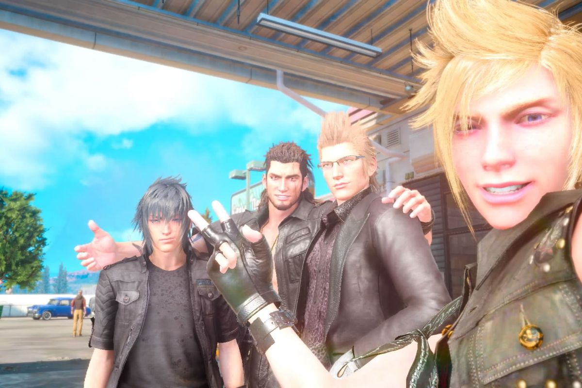 FINAL_FANTASY_XV chocobros selfie