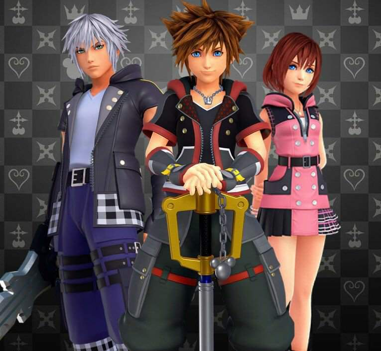Riku, Sora, Kairi from left to right