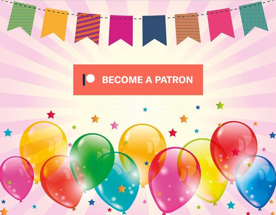 Become a Patreon celebration